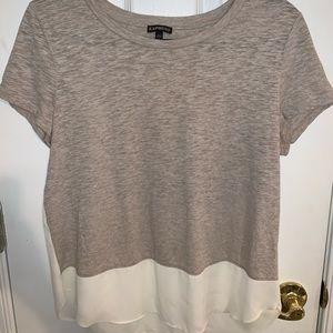 Cotton and Chiffon T-Shirt
